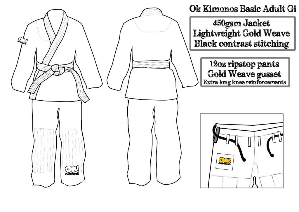 Adult Blue Tiger and White Basic gi Pre-Orders!   Ok! Kimonos