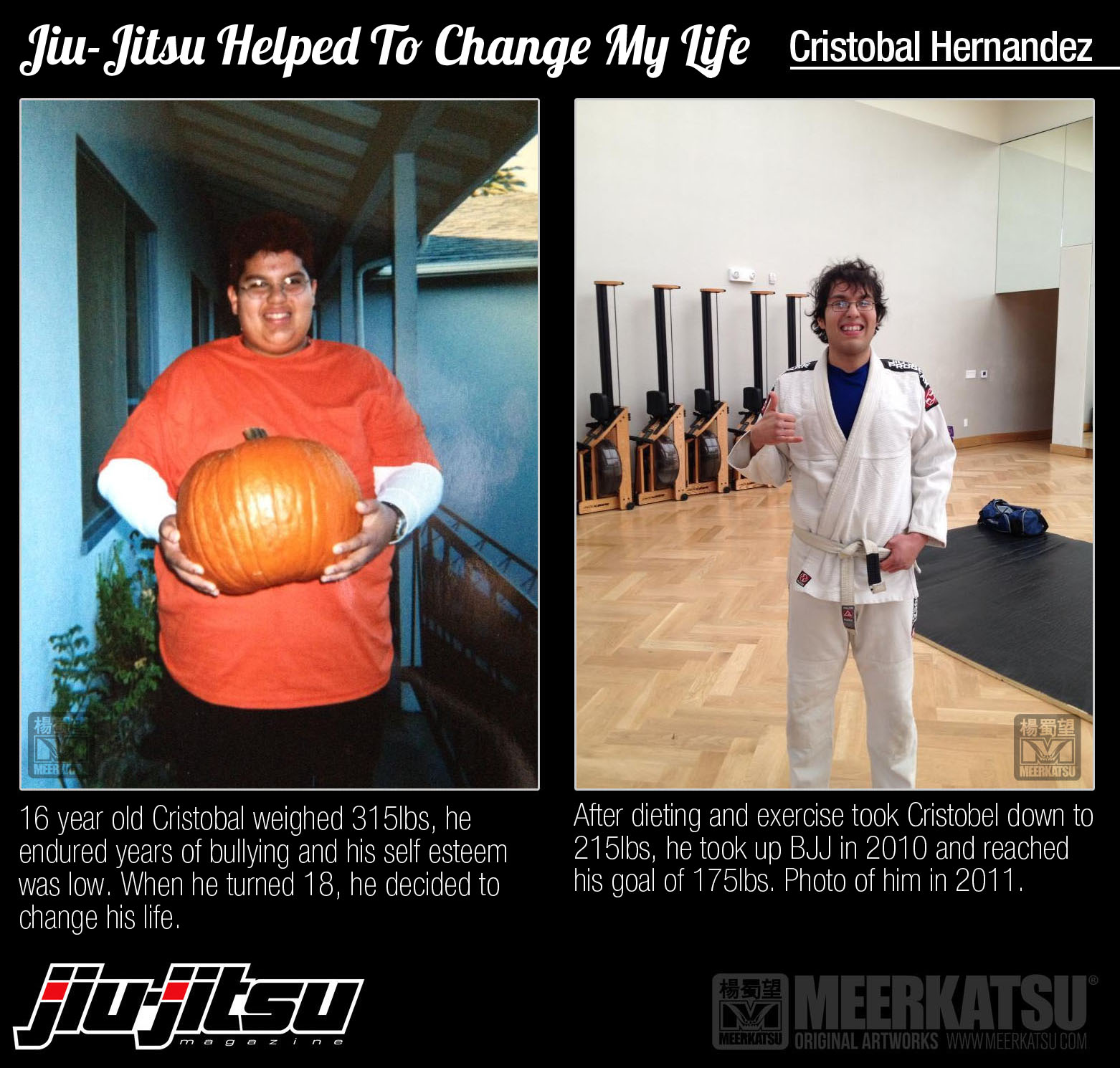 Cristobal Hernandez uses BJJ to lose over 140 pounds!   Ok